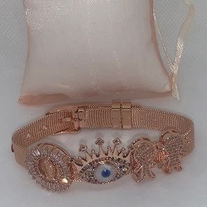 Rose Gold Bracelet With Extra Accessories